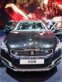 Peugeot 508, Motor Show Geneva 2015. Stock Image
