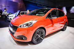 Peugeot 208, Motor Show Geneve 2015 Royalty Free Stock Photo