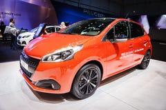 Peugeot 208, Motor Show Geneve 2015 Royalty Free Stock Photo