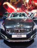 Peugeot 508, Motorowy przedstawienie Genewa 2015 obraz stock