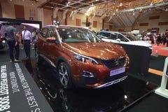 Peugeot nova 3008 sida mostra no autoshow 2017 do carro de Malásia fotos de stock royalty free