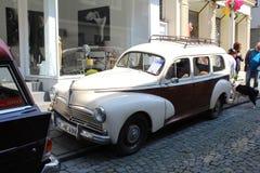 Peugeot 206 oldtimerauto in Kettwig, district van Essen stock afbeelding