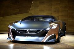 Peugeot Onyx. Concept model car from international auto show istanbul royalty free stock photography