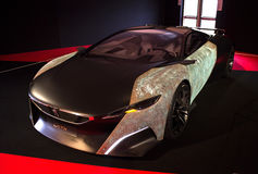Peugeot Onyx. PARIS - JANUARY 30 - Peugeot Onyx, Concept cars exposition on JANUARY 30, 2014 at Les Invalides museum in Paris, France Stock Photography