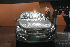 Peugeot på den Belgrade Car Show Royaltyfri Bild