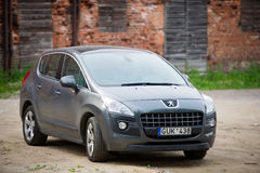 Peugeot 3008 parked up in Klaipeda old town Stock Photo