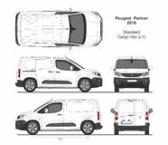 Free Peugeot Partner Cargo Van L1 2018-present Royalty Free Stock Photo - 162525565