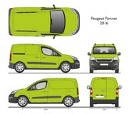 Peugeot partner 2016 Professional Cargo Van. Peugeot partner 2016 commercial Cargo van isolated draw scale 1:10 in CDR Format stock illustration