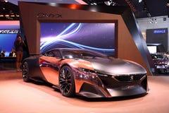 Peugeot pojęcia Onyksowy samochód zdjęcie royalty free