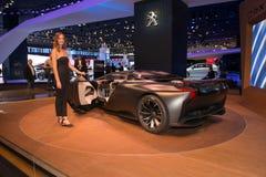 Peugeot pojęcia Onyksowy samochód Obraz Royalty Free