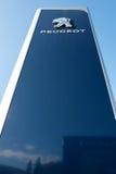 Peugeot przedstawicielstwa handlowego znak zdjęcia royalty free