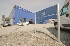 Peugeot przedstawicielstwo handlowe zdjęcie stock