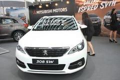 Peugeot przy Belgrade car show obraz stock