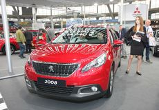 Peugeot przy Belgrade car show obrazy stock