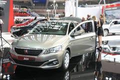 Peugeot przy Belgrade car show zdjęcia royalty free