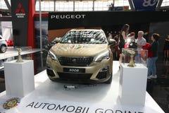 Peugeot przy Belgrade car show fotografia royalty free