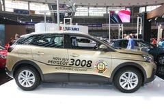 Peugeot przy Belgrade car show obraz royalty free