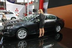 Peugeot przy Belgrade car show obrazy royalty free