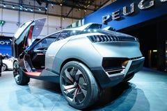 Peugeot Quartz, Motor Show Geneva 2015. The new Peugeot Quartz Concept at the 85th International Geneva Motor Show in Palexpo, Switzerland Royalty Free Stock Photography