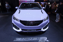 Peugeot 308 R Hybrid at the IAA 2015 Royalty Free Stock Image