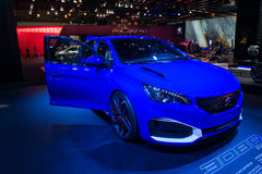 Peugeot 308R Hybrid - world premiere. Stock Images