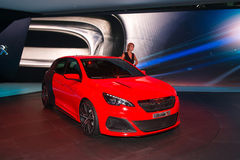Peugeot 308R - sport version in 308 family Royalty Free Stock Photos