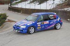 Peugeot 106 racerbil Royaltyfri Fotografi