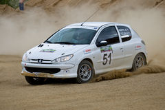 Peugeot on rally Stock Photos