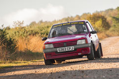 Peugeot rally car Royalty Free Stock Photo