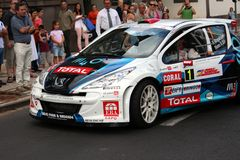 Peugeot Rally car Stock Images