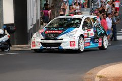 Peugeot Rally car Stock Photography