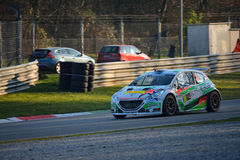 Peugeot 208 rally car at Monza Royalty Free Stock Photography