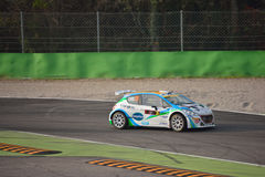 Peugeot 208 rally car at Monza Royalty Free Stock Image