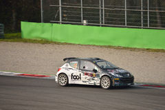 Peugeot 207 rally car at Monza Royalty Free Stock Photography