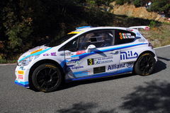 Peugeot 207 during the 32 ° Rally Lantern Royalty Free Stock Photography