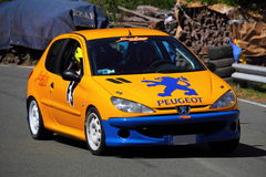 Peugeot 206 RC bieżny samochód Zdjęcia Stock