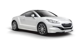 Peugeot RCZ auf Weiß Lizenzfreie Stockfotografie