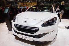 Peugeot RCZ, exposição automóvel Genebra 2015 imagem de stock