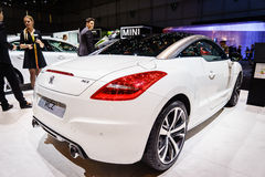 Peugeot RCZ, Motor Show Geneva 2015. Royalty Free Stock Photography