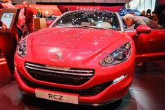 Peugeot RCZ, Motor Show Geneva 2015. Stock Images