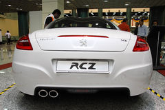 Peugeot RCZ rear view. Kuala Lumpur, Malaysia - NOVEMBER 12, 2011 - Peugeot RCZ on display at the Car Of The Year Auto Show on NOVEMBER 12, 2011 in Kuala Lumpur stock photos