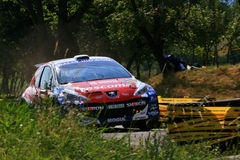 Peugeot S2000. 307 207 Rally IRC Barum Rally 2009 Stock Photo