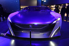 Peugeot salon in Champs Elysees. Paris Royalty Free Stock Image