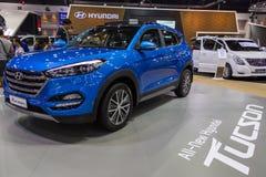 Peugeot samochód przy Tajlandia zawody międzynarodowi silnika expo 2016 Zdjęcia Stock