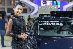 Peugeot samochód przy Tajlandia zawody międzynarodowi silnika expo 2016 Obraz Royalty Free