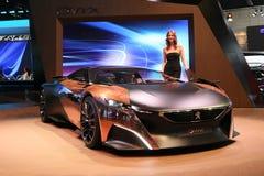 Peugeot Samochodowy Onyksowy pojęcie Obrazy Stock