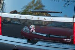 Peugeot samochodowy tylni okno fotografia royalty free