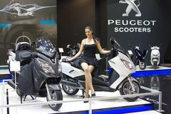 Peugeot scooters, eicma 2011 Stock Image