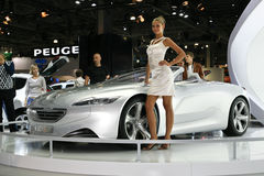 Peugeot sr1 concept. At the Moscow International Automobile Salon (MIAS-2010) August 25 - September 5 Stock Image