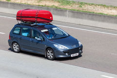 Peugeot 307 Station Wagon with kayaks Stock Image
